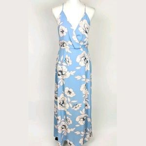 Lush Nordstrom NEW Floral Wrap Surplice Maxi Dress